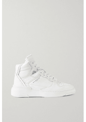 Givenchy - Wing Perforated Leather High-top Sneakers - White
