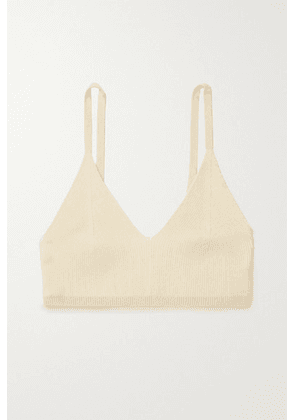 Jacquemus - Valensole Ribbed-knit Bralette - Beige