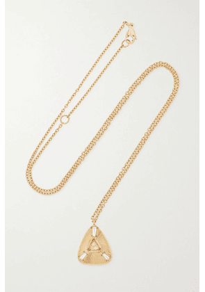 Brooke Gregson - Ellipse 18-karat Gold Diamond Necklace