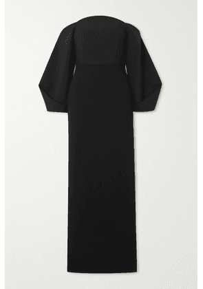 Solace London - Lotta Off-the-shoulder Stretch-crepe Gown - Black