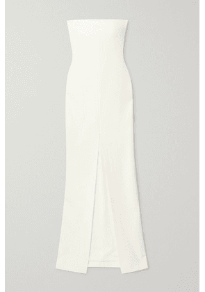 Solace London - Bysha Strapless Stretch-crepe Gown - White
