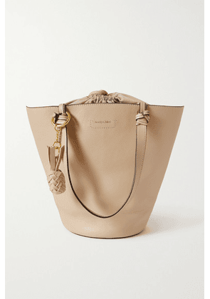 See By Chloé - Cecilia Textured-leather Bucket Bag - Cream