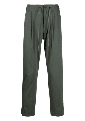 Attachment mid-rise slim-fit trousers - Green
