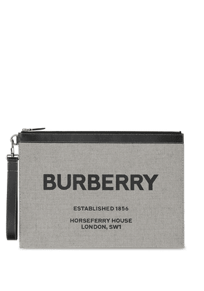 Burberry large Horseferry-print zip pouch - Black