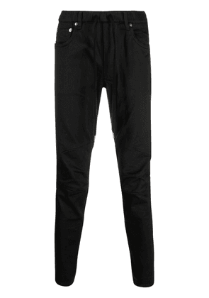 Attachment mid-rise skinny jeans - Black