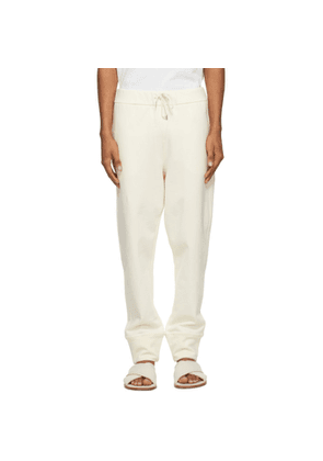 Jil Sander Off-White French Terry Lounge Pants