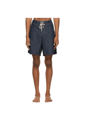 Jil Sander Black Satin Swim Shorts