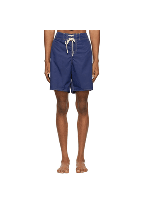 Jil Sander Blue Satin Swim Shorts