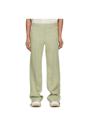 Wooyoungmi Green Twill Trousers