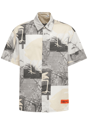 All Over Print Cotton Bowling Shirt
