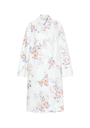 Embroidered cotton-blend coat