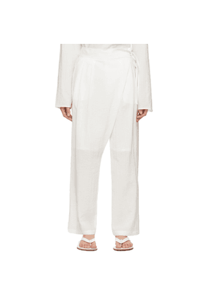 LE17SEPTEMBRE White Side String Wrap Trousers