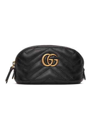 Gucci Black GG Marmont Key Coin Pouch