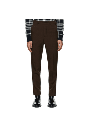 AMI Alexandre Mattiussi Brown Wool Carrot Fit Trousers