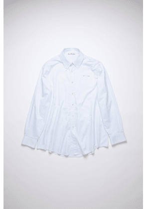 Acne Studios FN-MN-SHIR000389 White/blue  Checked cotton shirt