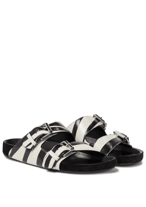 Lennyo zebra-print leather sandals