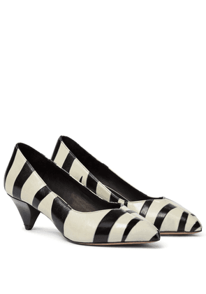 Poomi zebra-print leather pumps