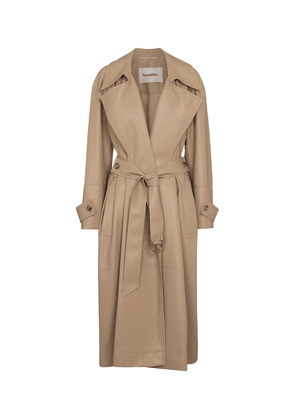 Amal faux leather trench coat