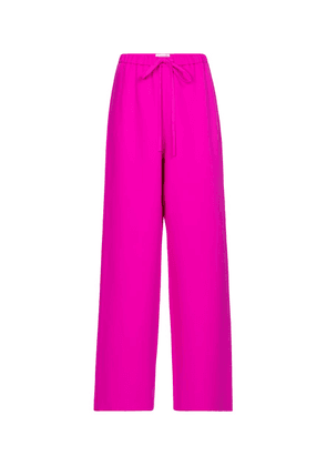Valentino wide-leg silk cady pants