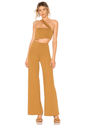 House of Harlow 1960 x REVOLVE Fabien Jumpsuit in Nude. Size XL.