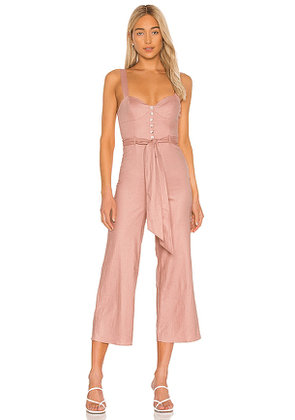 Privacy Please Faye Jumpsuit in Pink. Size XL, XS.