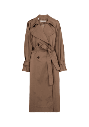 Stretch-cotton trench coat
