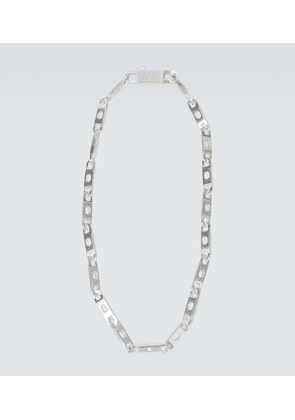 Silver-plated chain necklace