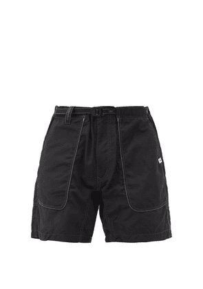 And Wander - Topstitched Belted Technical Shorts - Mens - Black
