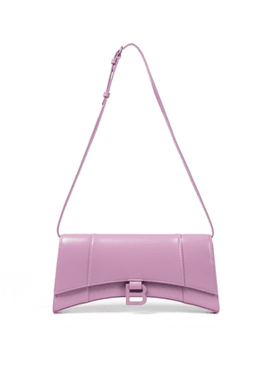Hourglass leather shoulder bag