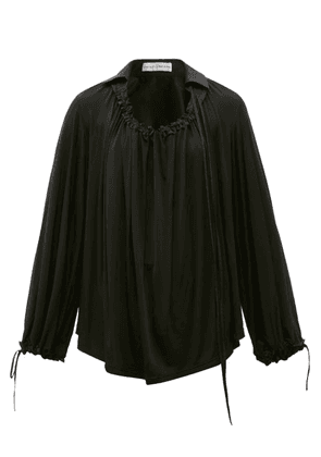 Palmer//harding - First Moment Ruched Jersey Blouse - Womens - Black