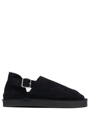 Jil Sander - Buckled Suede Slip-on Shoes - Mens - Black