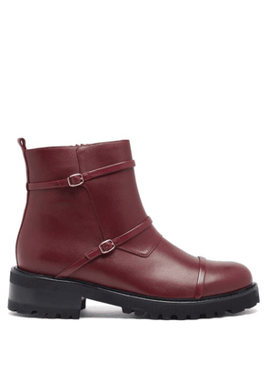 Malone Souliers - Brodie Trek-sole Leather Boots - Womens - Burgundy