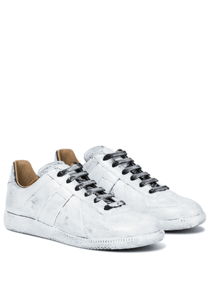 Replica painted leather sneakers