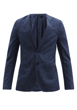 Paul Smith - Soho Single-breasted Checked Wool-blend Blazer - Mens - Navy Multi
