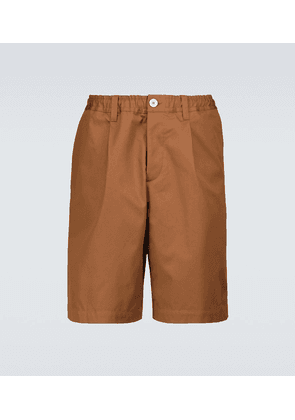 Elasticated cotton shorts