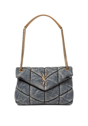 Loulou Puffer Small denim shoulder bag
