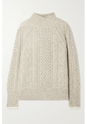 Alex Mill - Camil Cable-knit Mélange Wool-blend Sweater - Stone