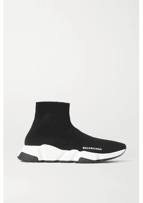Balenciaga - Speed Stretch-knit High-top Sneakers - Black