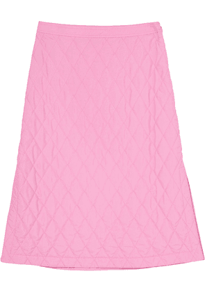 Burberry diamond-quilted A-line skirt - Pink
