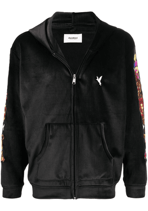 Doublet Chaos embroidered zip hoodie - Black