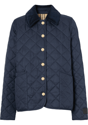 Burberry quilted long-sleeve jacket - Blue
