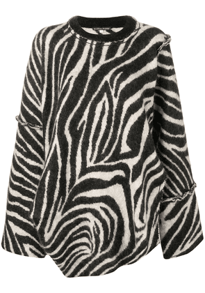 Alexa Chung oversized zebra print sweater - Black