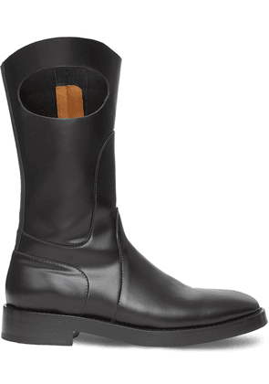 Burberry cut-out detail panelled boots - Black