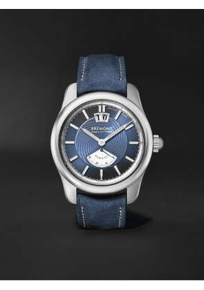BREMONT - Hawking Limited Edition Automatic 41mm Stainless Steel and Leather Watch - Men - Blue