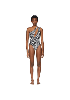 Solid and Striped Black and White Zebra The Issi One-Piece Swimsuit