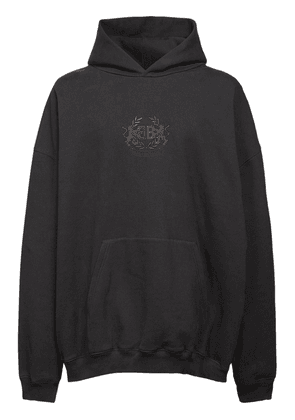 Oversize Logo Embroidery Cotton Hoodie