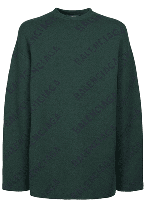 All Over Logo Wool Knit Sweater