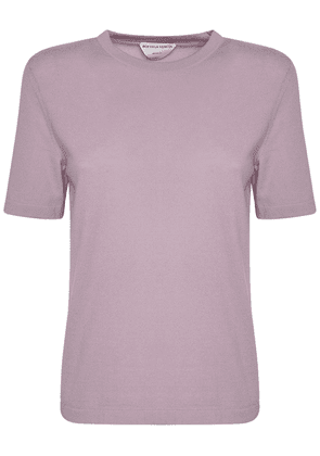 Cashmere Knit Short Sleeved Top