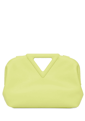 Triangle Leather Top Handle Bag