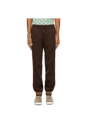 Gucci Brown Technical Jersey Lounge Pants